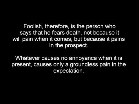Epicurus:  Thoughts on Death