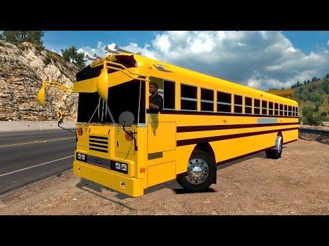 BUS BLUE BIRD | Clásico del Transporte Escolar | Ruta a Santa María, California
