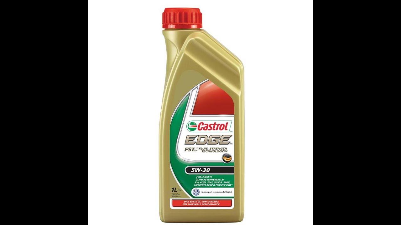 Моторное масло Castrol EDGE 5W30 LL, 4 л, синтетическое - YouTube