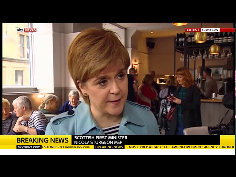 Nicola Sturgeon: NHS hack part of international global attack