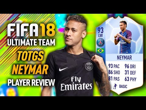 FIFA 18 TEAM OF THE GROUP STAGE NEYMAR (93) PLAYER REVIEW! FIFA 18 ULTIMATE TEAM!