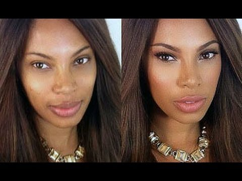 My Foundation Routine Highlight & Contour - YouTube