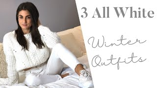 3 All White Winter Outfits