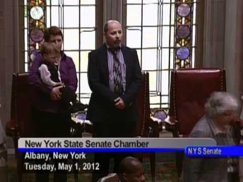 Senator Kennedy Welcoming Jay J. to the New York State Senate Chamber - 05/01/12