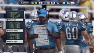 NFL 2017 Week 17 - Green Bay Packers vs Detroit Lions - 2nd Half - Madden NFL PS4 - HD