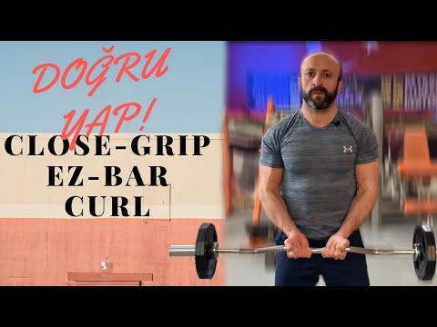 Close-Grip EZ Bar Curl  hareketi DOĞRU nasıl yapılır? Adım adım ayrıntılı anlatım!