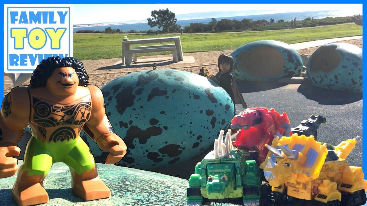 Dinotrux Toys Amp Lego Moana Maui Giant Surprise Egg Sand