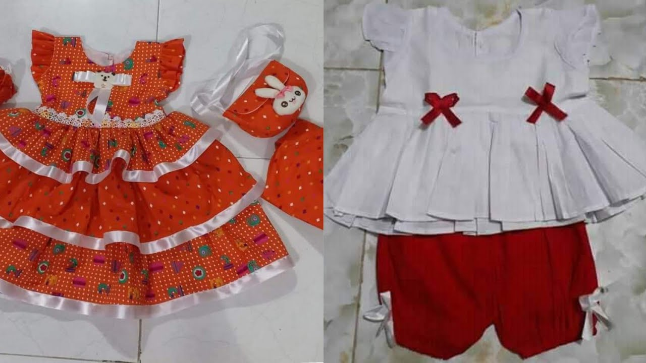 Outfits eid collection for baby girls /summer cut pieces dress design ideas cotton lawn frocks kurti
