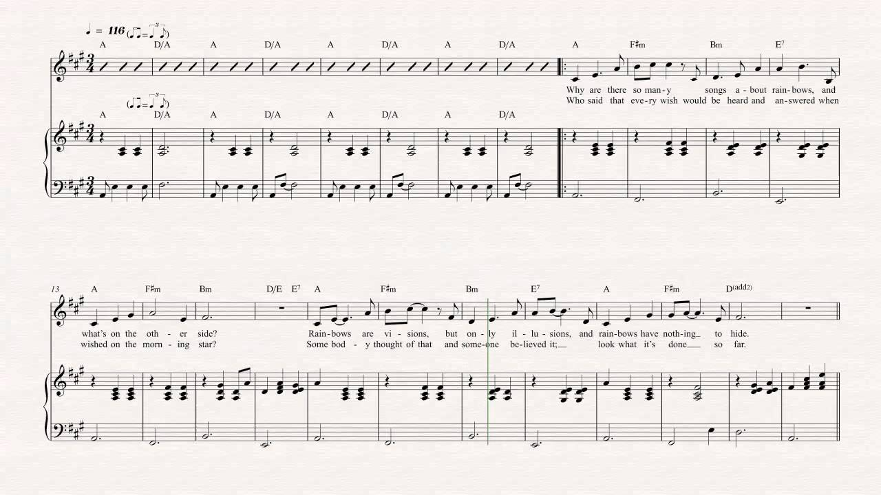 Flute rainbow connection jim henson sheet music chords flute rainbow connection jim henson sheet music chords vocals youtube hexwebz Gallery