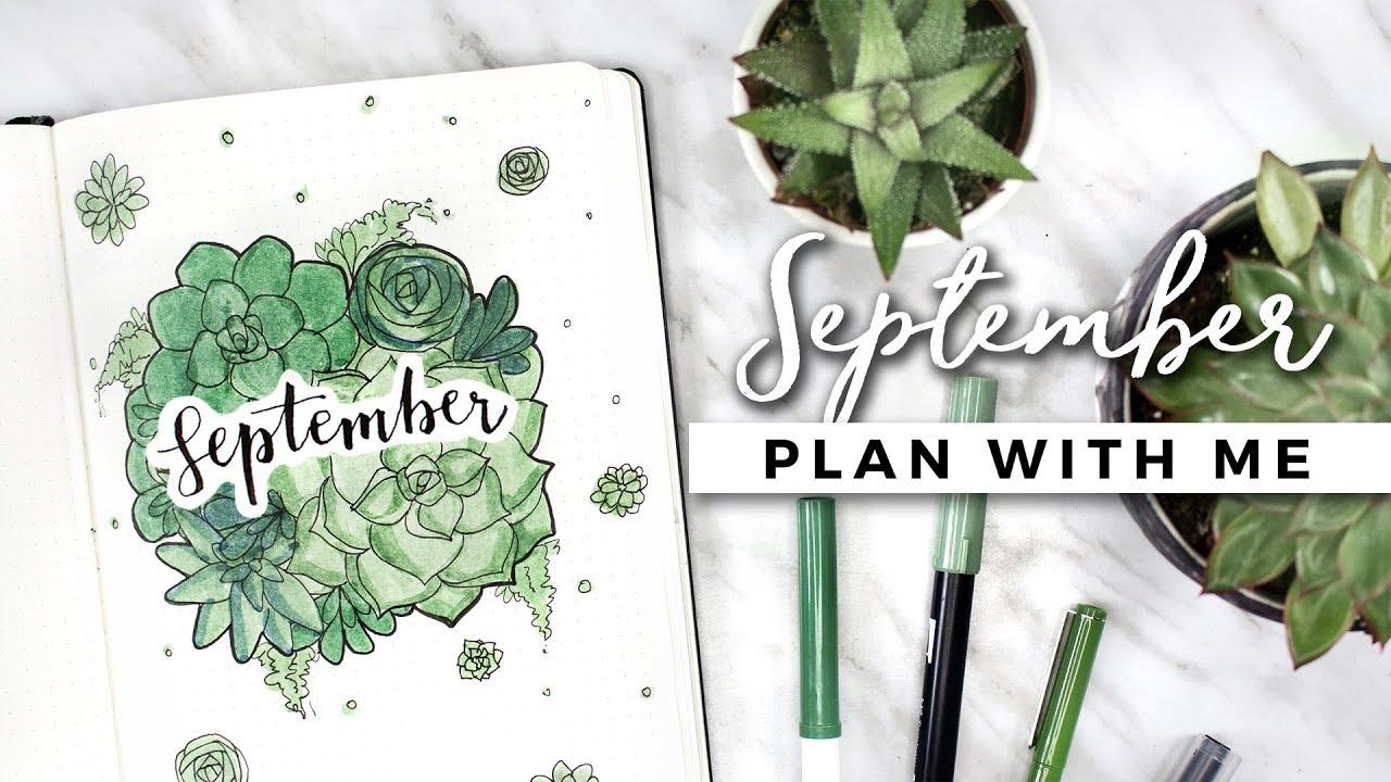 Plan with me september 2017 bullet journal setup youtube for Plan me