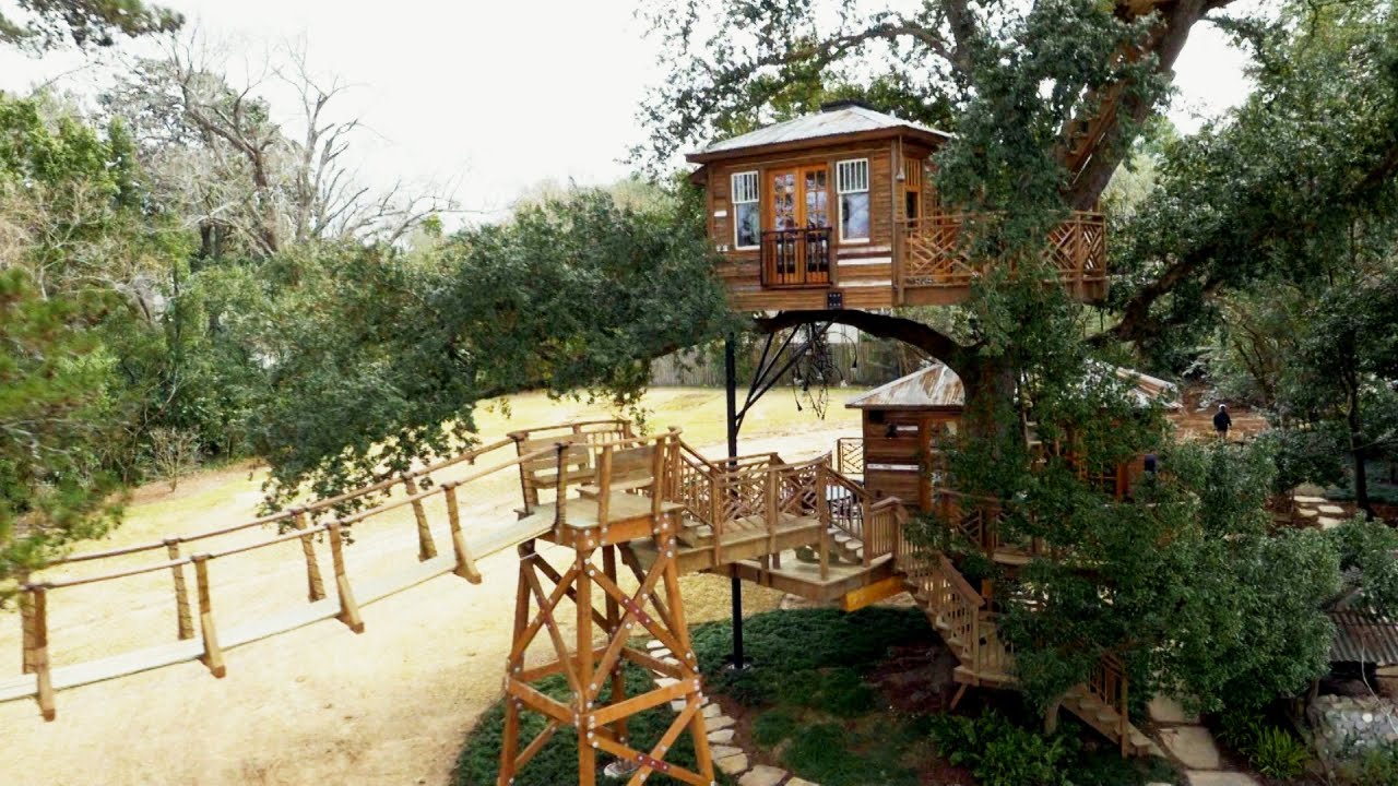 behind the build biggest treehouse ever treehouse masters youtube - Biggest Treehouse In The World 2017