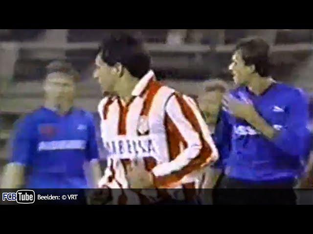 1991-1992 - UEFA-Cup - 05. Kwartfinale - Atletico Madrid - Club Brugge 3-2