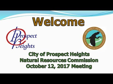 October 12, 2017 Natural Resources Commission