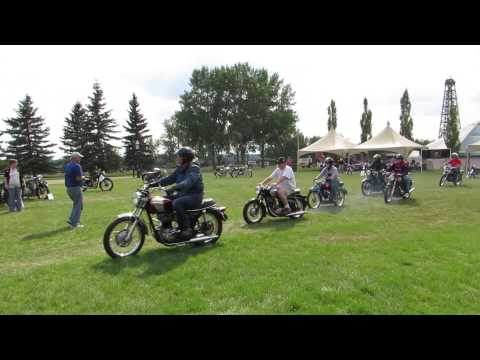 Vintage motorcycle display at Heritage Park, Calgary. (Photos and video)