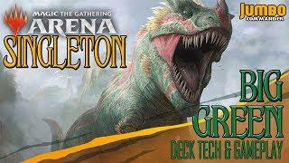 MTG Arena Singleton: Big Green Deck Tech and Gameplay
