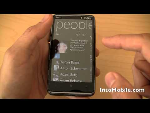 T-Mobile HTC HD7 Windows Phone 7 hands-on review - Software tour of the big screen WP7 phone