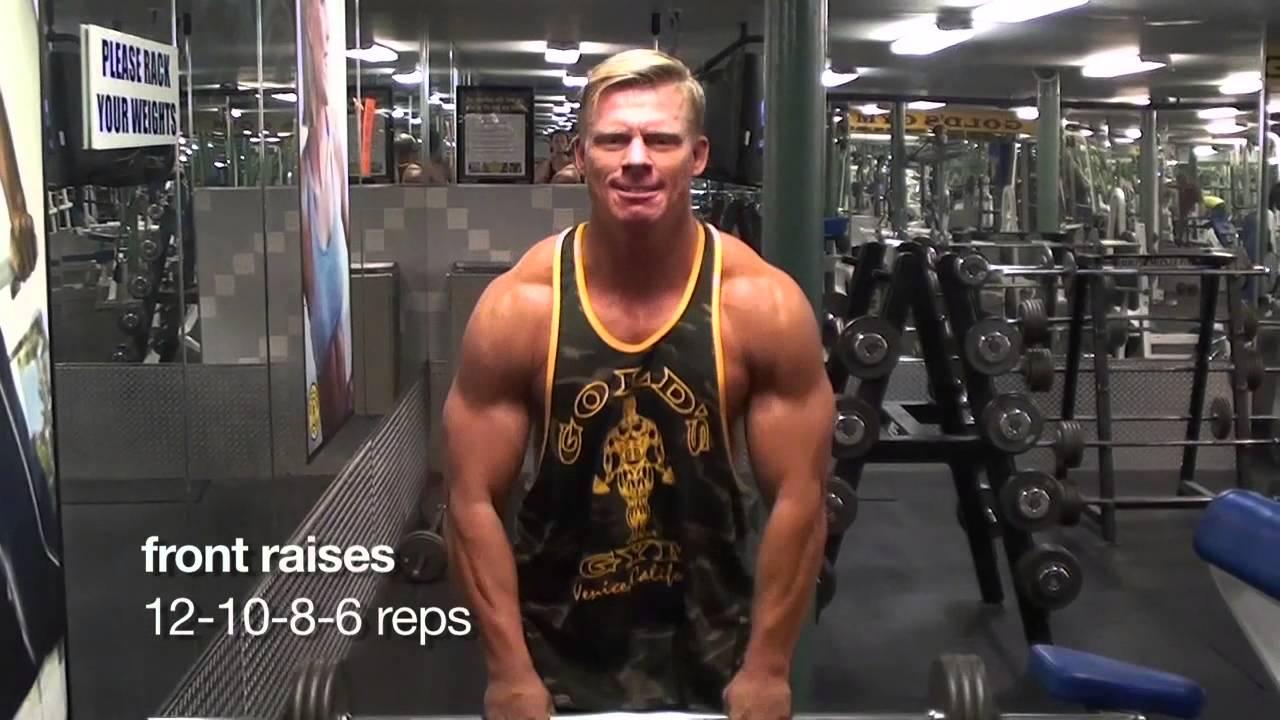 Nick Olsen nick olsen work out series shoulders and biceps - youtube