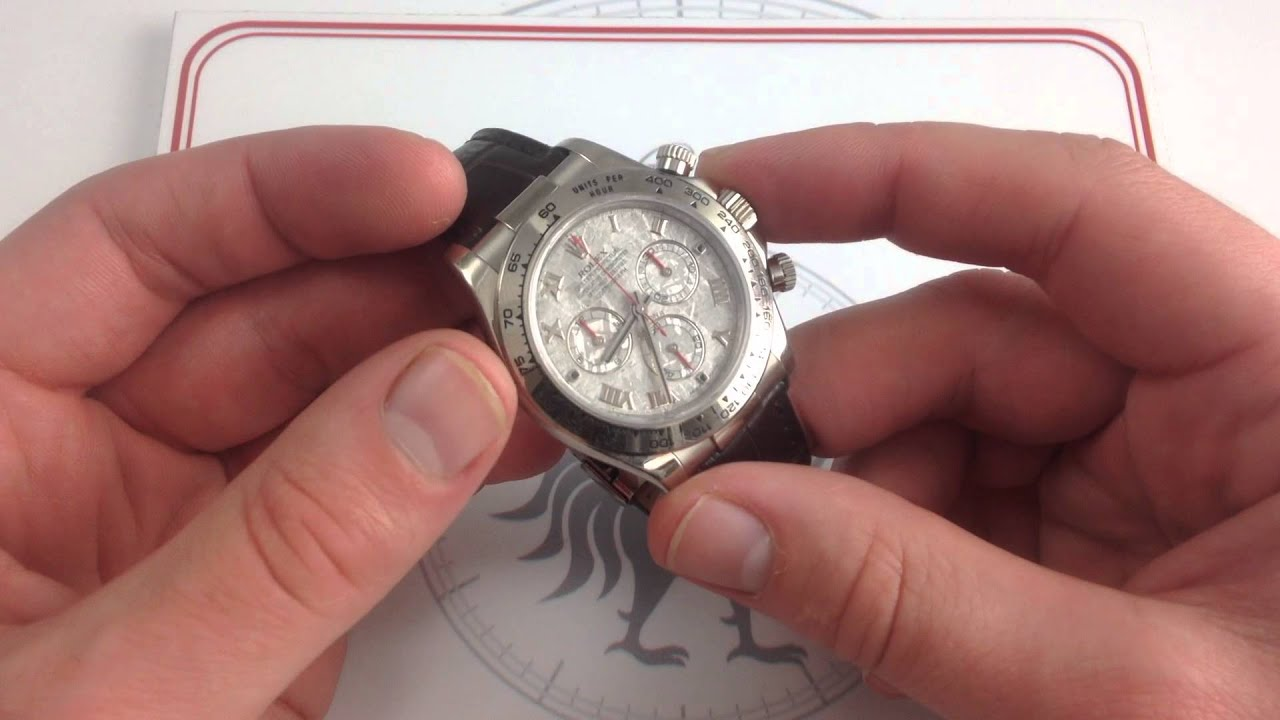 Rolex Oyster Perpetual Cosmograph Daytona Meteorite Dial 116519MT Luxury  Watch Review