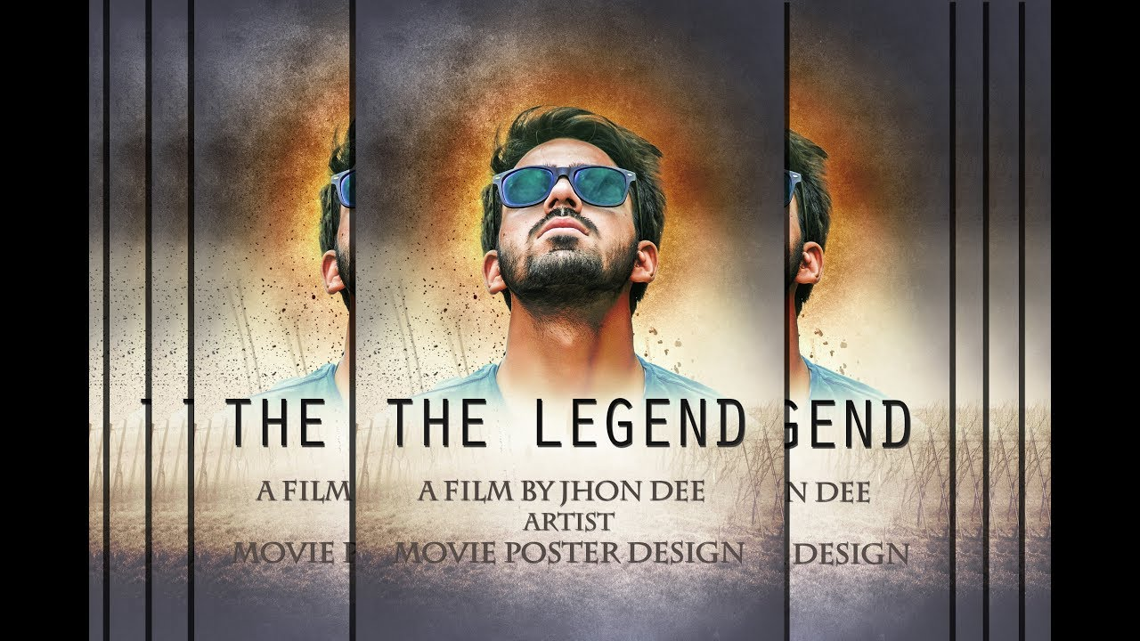 Make A Movie Poster With Texture Background In Photoshop Youtube