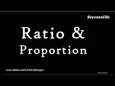 Ratio and Proportion - CBSE NCERT Maths lesson Class VI & VII