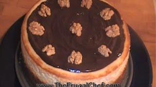 How To Make A Walnut Praline Cheesecake W/ Chocolate Ganache