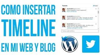 Cómo insertar timeline de twitter en mi web WordPress