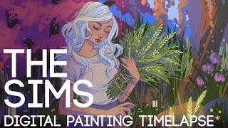 The Sims Digital Painting Timelapse and GIVEAWAY // Jacquelin de Leon
