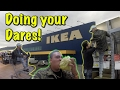 DOING YOUR DARES IN IKEA | *KICKED OUT* | EMPLOYEE BACK ROOM!!