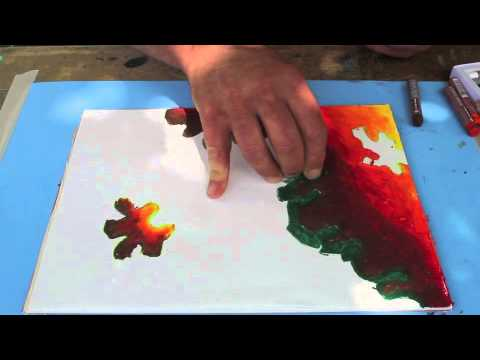 Oil Pastel blending techniques
