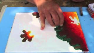 Oil Pastel blending techniques