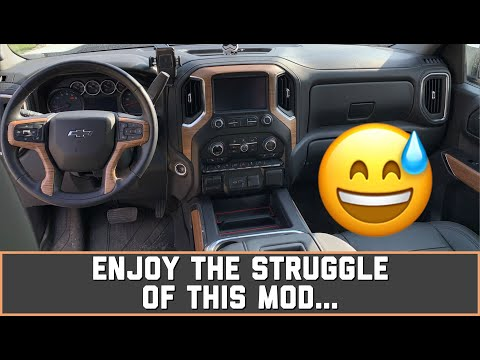 Removing And Wrapping Interior Trim On A 2019, 2020, 2021 Silverado, Sierra
