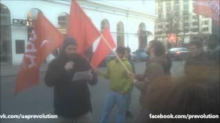 Австрия против Украинского фашизма! Пикет Дома ЕС в Вене. 05.03.14 Prevolution