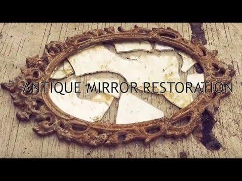 Restoration of an antique mirror.