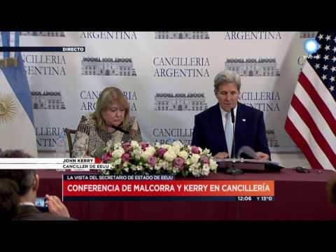 TV Pública Noticias - Conferencia de prensa de Susana Malcorra y John Kerry  en Argentina