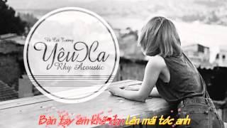 Yêu Xa ( Acoustic Male) by Rhy karaoke