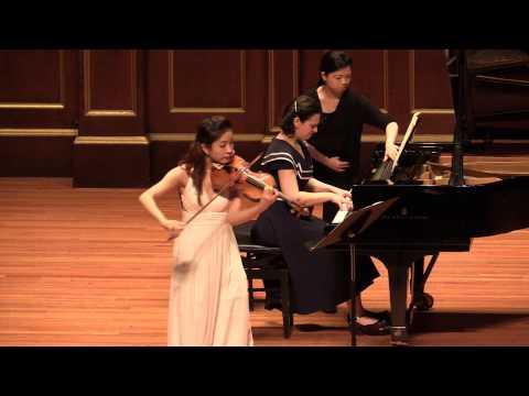 Schumann Sonata for Violin and Piano no 1 in A minor, Op. 105 Yoojin Jang