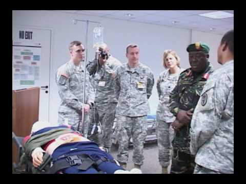 Maj. Gen. Wynjones Matthew Kisamba of Tanzania visits U.S. Army Africa headquarters - health center