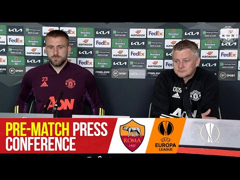 Pre-Match Press Conference | Manchester United v AS Roma | Luke Shaw & Ole Gunnar Solskjaer | UEL