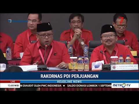 PDIP Gelar Rakornas Bahas Pileg dan Pilpres 2019