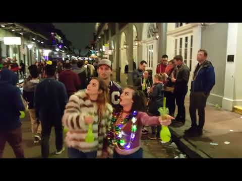 Lundi Gras on Bourbon Street