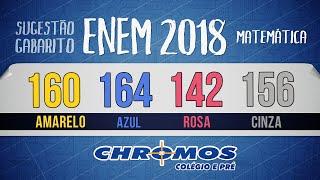 Gabarito ENEM 2018 CHROMOS - Prova Amarela: Questão 160   Matemática