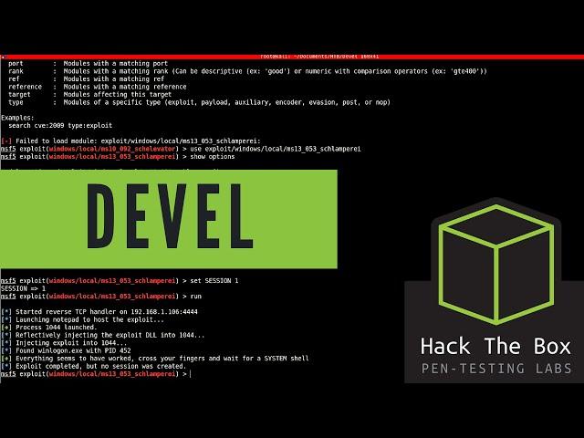 HackTheBox Walkthrough - Devel