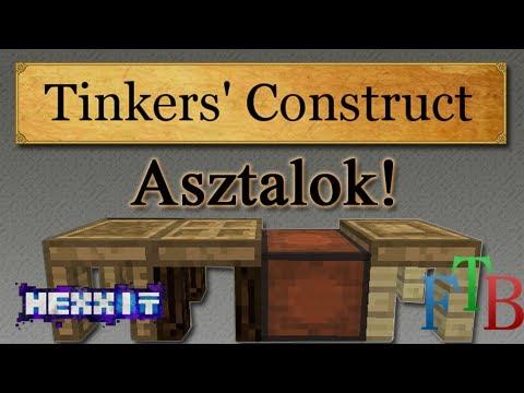 Minecraft - Tinkers' Construct - Asztalok + Modifier-ek!