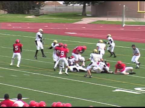 Great Touchdown Catch! Thomas Jefferson TJ vs  Denver East High School, CO