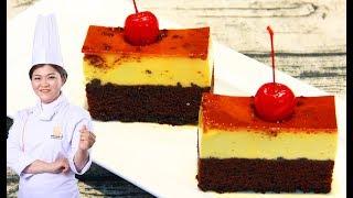 Cách làm bánh Flan bông lan chocolate vừa ngon vừa đẹp / Gateau flan/ Bếp Xanh