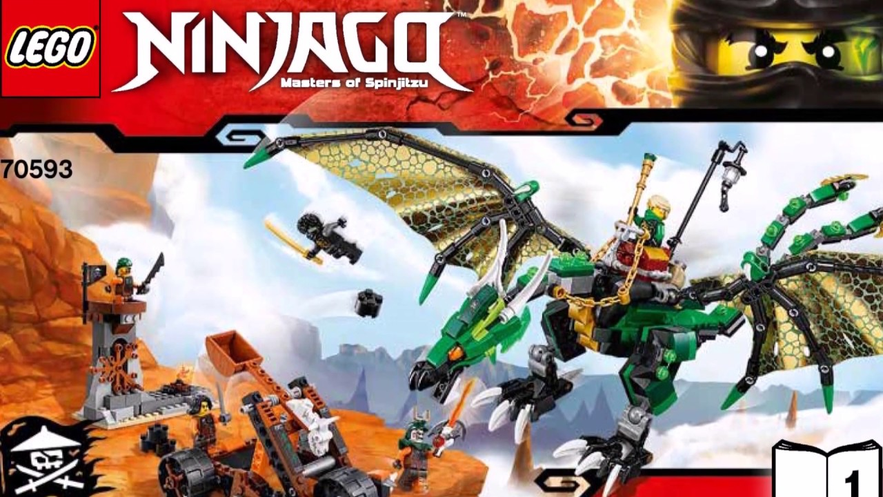 LEGO NINJAGO The Green NRG Dragon 70593 Instructions Book DIY 1 - YouTube