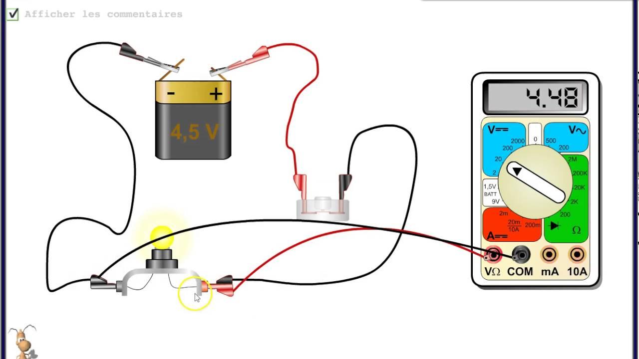 Tutoriel utilisation d 39 un voltm tre youtube for Utilisation d un ohmmetre