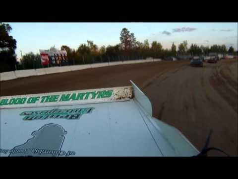 Tyler Sistrunk Motorsports - North Florida Speedway - 4-23-2016 - Heat Race Rear View Cam WIN