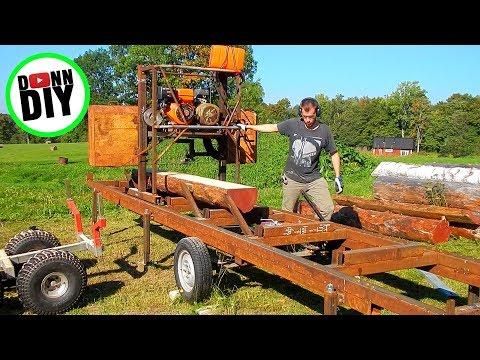 Sawmilling Furring Strips For Siding - Band Sawmill Build #23