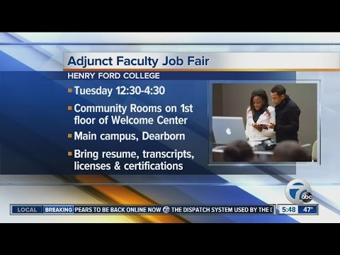 Henry Ford College is holding job fair for the 2016 fall and 2017 winter semesters
